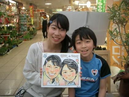 似顔絵イベント大盛況! ★保険サロン蟹江店★