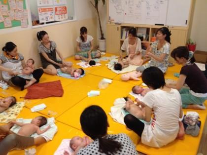 保険サロン 名古屋植田店 オイルベビーマッサージを開催しました!!
