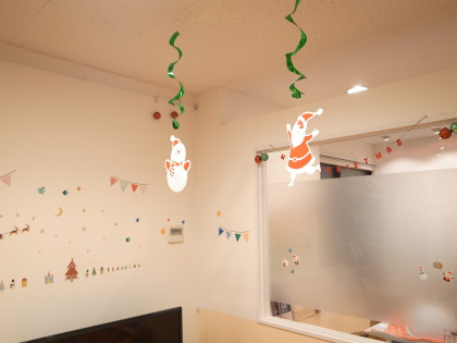 店内装飾をさらにクリスマスにしました☆ 保険サロン名古屋植田店